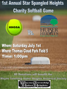1st Annual Star Spangled Heights Charity Softball Game @ Thomas Cloud Memorial Park