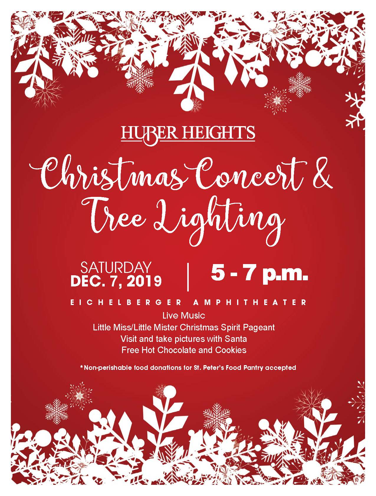 Christmas Concert and Tree Lighting @ Eichelberger Amptheater | Dayton | Ohio | United States