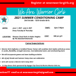 We Are Warrior Girls Summer Conditioning Camp